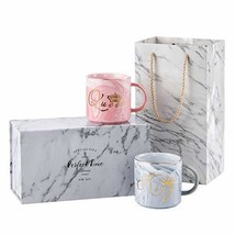 Valentine's Day Gifts - Luspan King and Queen Couples Coffee Mugs set - ... - $19.96