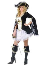Midnight Madam Sexy Musketeer Adult Halloween Costume Sz Sm/Med 2-8 NEW - $34.60