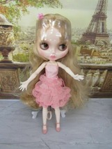 Neo Blythe Doll -CUSTOMIZED Shiny Nbl FACE-BJD With Pink Outfit And Shoes New!! - $69.25