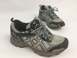 ASICS Gel Enduro II TR Running Shoes #TN6A6 Grey Black Blue Women Size 6.5 - $24.50