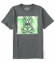 Men's Psycho Bunny Short Sleeve Logo Graphic Tee Haley Heather Storm T-Shirt image 2