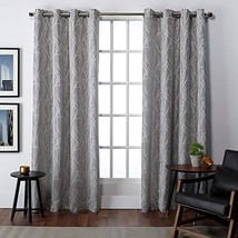 Exclusive Home Finesse Grommet Top Curtain Panel Pair, Ash Grey, 54x96 - $52.13