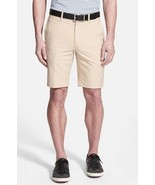 NWT BOBBY JONES Golf shorts 34 flat front moisture wicking khaki $95 - $42.67