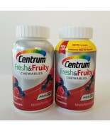 Centrum Mixed Berry Fresh Fruity Chewable Multivitamin 60 Count Lot of 2... - $29.02