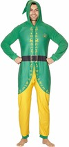 NWT Men's Buddy the Elf Adult Union Suit w/ Hood Costume Halloween / Chr... - $27.11