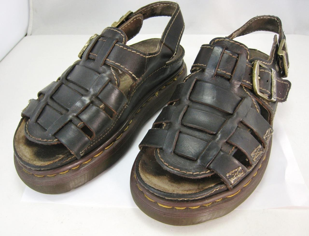 Doc Martens Classic Fisherman Leather Sandals 7 US Air Wair Chunky Comfort Shoes