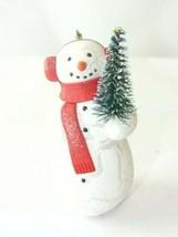 2010 Hallmark QXG7356 Spirited Snowman Christmas Tree Ornament - $4.99