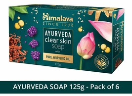 Himalaya Ayurveda Clear Skin Soap, 125 g (Pack of 6) - $26.10