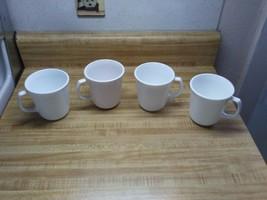 Vintage White Corelle coffee mugs  - $18.95
