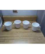 Vintage White Corelle coffee mugs  - $18.95