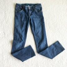 Levi's Girls Adjustable Waist Mid-Rise Dark Wash Skinny Jeans Sz 12 Regular - $14.80