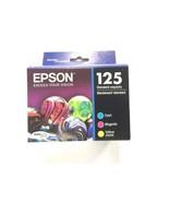 Brand New Genuine Epson 125 Cyan Magenta Yellow T125520 Tri-Pack Exp 2020 - $17.99