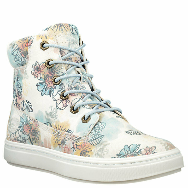 "Women's Timberland LONDYN 6"" SNEAKER BOOTS, FLORAL Sued TB0A1X46 T67 Multi Sizes"