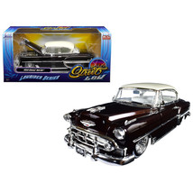 1953 Chevrolet Bel Air Brown Lowrider Series Street Low 1/24 Diecast Model Car b - $32.11