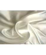 Silk~Y Satin Charmeuse Bed Sheet Set Queen Ivory/Beige - $24.99