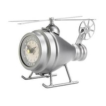Silver Helicopter Desk Clock - $67.12
