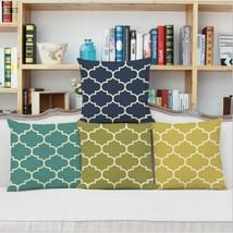 1 Pair 45x45cm Linen Printing Stripe Pillow Case Home Deco Gift Hotel Cu... - $15.50
