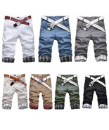 2018New Mens Shorts Chino Cargo Cotton Casual Summer Work Combat Pants T... - $22.44