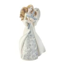 ANGEL HUGGING CROSS Figurine Collectible Gift - $22.95