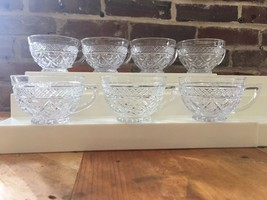 Vintage Imperial Cape Cod Punch Tea a Coffee a Cups Lot Of 7 Wafer Glasses - $14.01