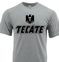 Tecate Dri Fit graphic T-shirt moisture wicking beer beach sun shirt SPF 50 tee image 1