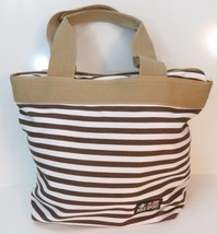 Polo Sport Purse Handbag Summer Beach Bag Brown White Tan - $14.80