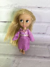 "Disney Store Tangled Princess Rapunzel Animator Collection Mini 5"" Doll ... - $14.84"