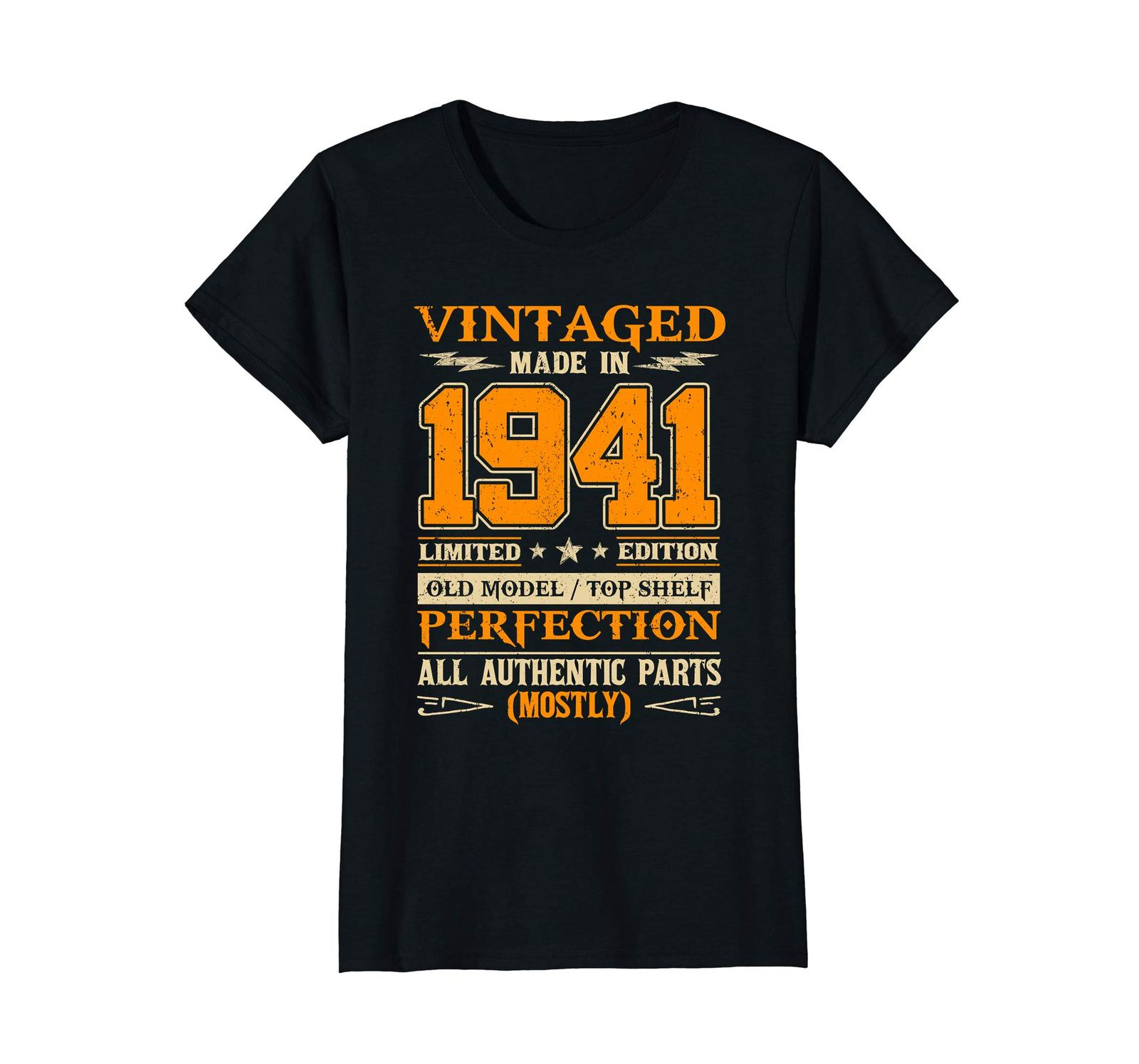 Funny Shirts - Legends Vintage Made In 1941 77th Birthday Gift 77 years old Wowe image 3