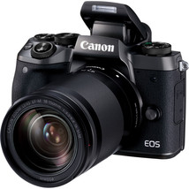 Canon EOS M5 24.2MP Digital SLR Camera - Black (Kit w/ EF-M 18-150mm Lens) - $1,178.12