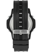 I.N.C. Men's Black Silver Resin Silicone Strap 46mm Digital Sports Watch NIB image 3