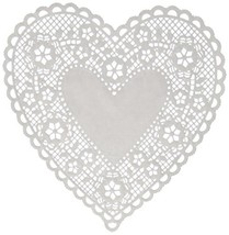 Hygloss Products Heart Paper Doilies – 8 Inch White Lace Doily for Decor... - $23.51