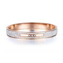 Lokaer Classic Mosaic Clay Rhinestone Crystal Rings Bangle Sets Titanium... - $18.36