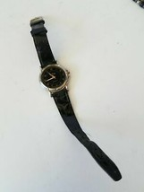 Vintage Collezio Analog Quartz Watch Black Leather Strap Band - $16.52 CAD