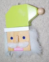 "Santa Claus Head Wood Christmas Ornament Holiday Decoration 4"" Target - $11.53"
