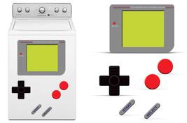 Dry Erase Gamer Decals For Samsung Washing Machine Classic 80s Stickers GAME BOY - $24.70