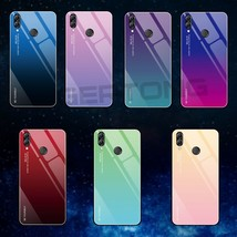 Honor10 Lite Luxury Gradient Cover For Huawei Honor 10 Lite Glass Silic - $17.45