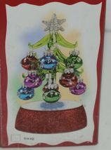 Ganz EX20536 Light Up Christmas Tree 12 Ornaments 6 Inches Glass image 9