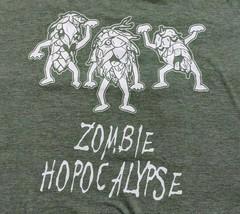 Craft Beer Zombie Apocalypse Hops T Shirt Sz L XL Funny Saying Halloween... - $20.00