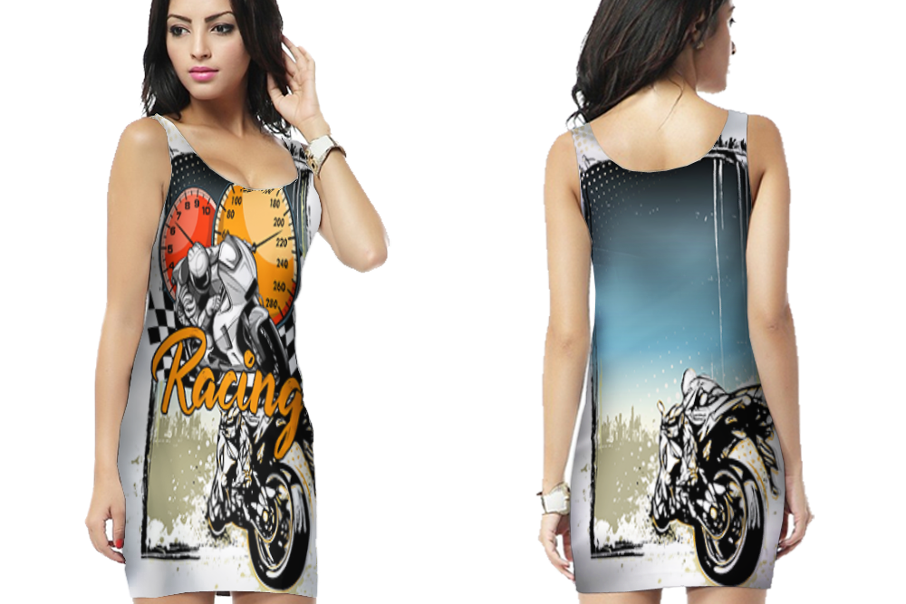 Primary image for Biker Racing Style  Bodycon Dress For Women