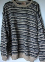 Woolrich Sweater XL Stripe Design Mens Pullover Crew Neck Extra Large Ma... - $21.05