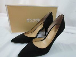 NWB Michael Kors Nathalie Flex High Pump Black Suede 080 M - $94.99