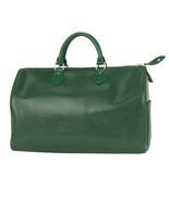 Auth Louis Vuitton EPI Hand Bag Borneo Green Inner Pockets Zipper Logo L... - $603.90