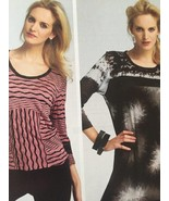 Vogue Sewing Pattern 8817 Misses Close Fitting Top Size 16-24 New Tilton - $21.25