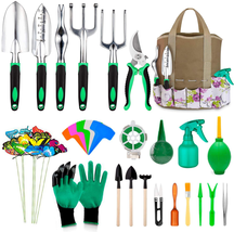82 Pcs Garden Tools Set, Extra Succulent Tools Set, Heavy Duty Gardening... - £29.55 GBP