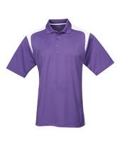 Tri-Mountain Blitz 145 Knit Polo Shirt - Purple /  White - $24.85+