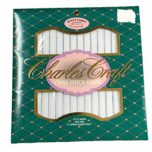 Charles Craft Waste Canvas Cross Stitch Fabric 14 Count 12x18 Cotton New - $12.84