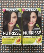 2 Garnier Nutrisse Nourishing Permanent Hair Color Dye Creme #20 Soft Bl... - $19.80