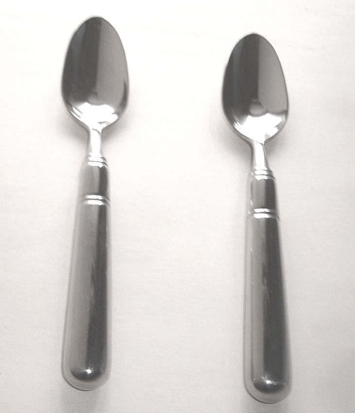 Thomas O'Brien Elissa Stainless Teaspoons 2 Piece Set by Reed & Barton New image 1