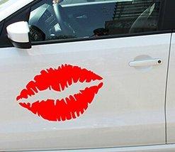 "Kiss Mark Lips Car Decal / Sticker RED 23.6"""
