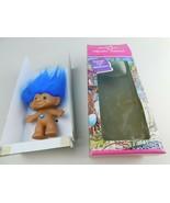 "Treasure Troll Doll 3"" Blue Hair Eyes Blue Belly Gem Ace Novelty - $29.69"
